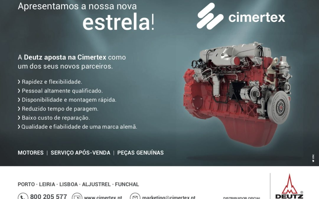 Cimertex officially represents in Portugal the engines DEUTZ